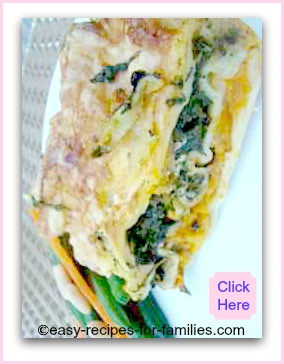 An easy vegetarian lasagna with pumpkin and spinach filling