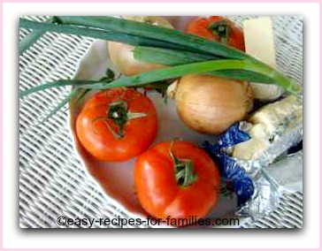 ingredients for the roasted healthy vegetarian recipe