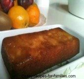 This homemade cake recipe is a maple syrup apple cake