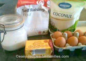 Homemade Cookie Recipe - Coconut Drops - Ingredients