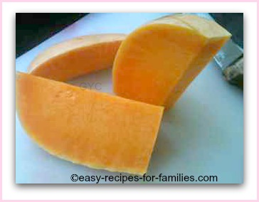 chunky slices of pumpkin