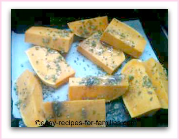 learn how to roast pumpkin with herbs and garlic