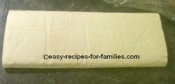Filo pastry comes in a set of rolled sheets