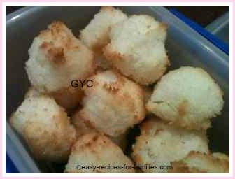 kids cooking recipes of coconut macaroons
