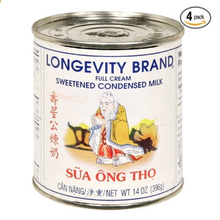 Longevity Condensed Milk 14 0z Sweetened. 4 in a pack