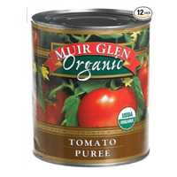 Muir Glen Tomato Puree. 100% Organic Certified by the FDA. 28 ounce can in a pack of 12.  CLICK HERE FOR MORE DETAILS.