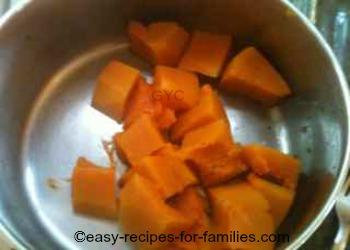 Left over pumpkin or steamed pumpkin