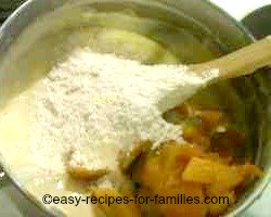 Add dry ingredients to the mixture