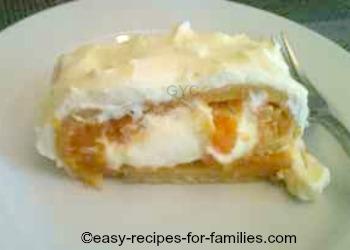 Plated Pumpkin Roll Cake