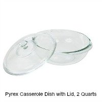 Pyrex Casserole Dish, 2 Quart , with fitting glass cover. CLICK HERE FOR MORE DETAILS