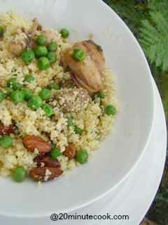 Our quick chicken recipe is a soy and garlic chicken served with couscous