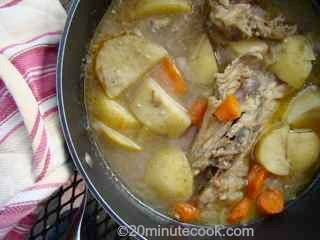 Rustic wholesome recipe for chicken soup
