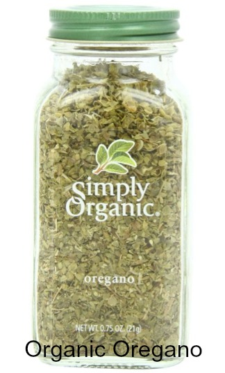 Simply Organic Oregano in a 0.75 ounce bottle. Certified Organic