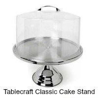 Tablecraft Classic Cake Stand - 12 inches diameter with cover. CLICK HERE FOR MORE DETAILS