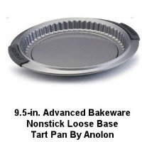 Anolon Non 9.5 inch Stick Loose Base Tart Pan.  CLICK HERE FOR MORE DETAILS.